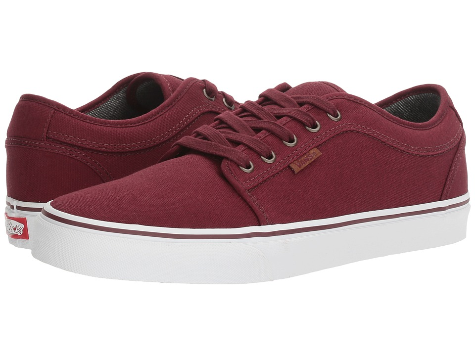 Vans - Chukka Low ((10 Oz Canvas) Port/White) Men's Skate Shoes