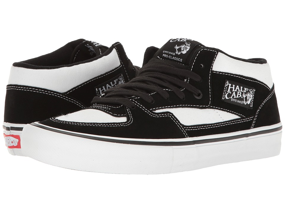 Vans - Half Cab(r) Pro (White/Black/White) Men's Skate Shoes