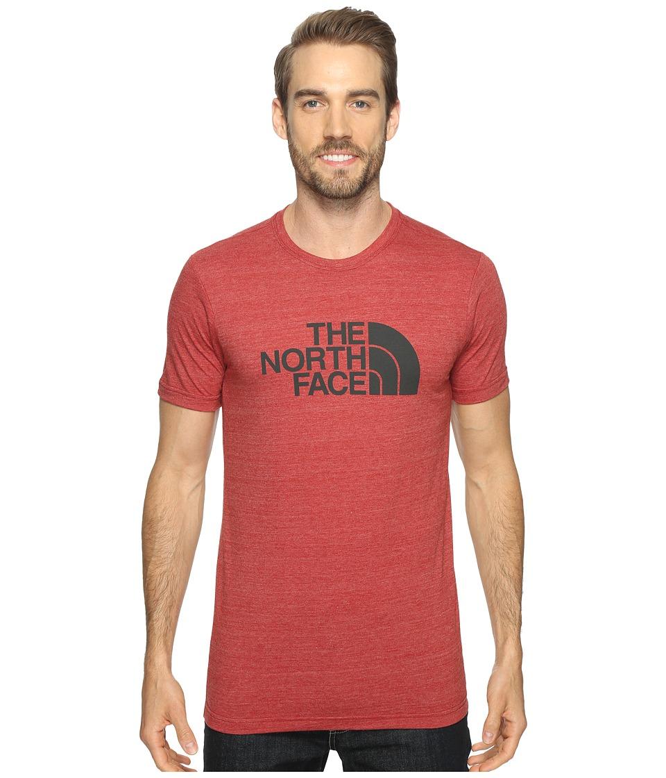 The North Face Short Sleeve Tri-Blend Tee (Cardinal Red Heather/Asphalt Grey (Prior Season)) Men