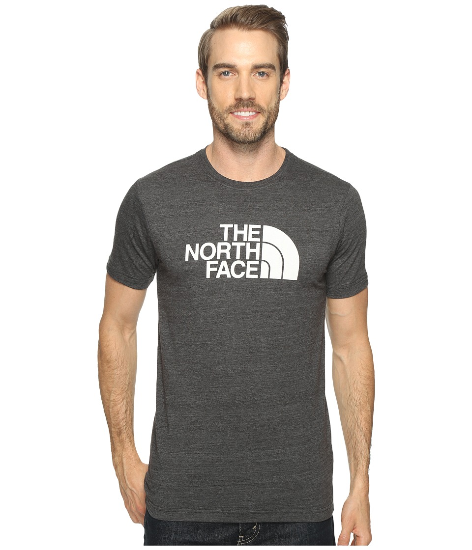 The North Face - Short Sleeve Tri-Blend Tee (TNF Dark Grey Heather/TNF White (Prior Season)) Men's T Shirt