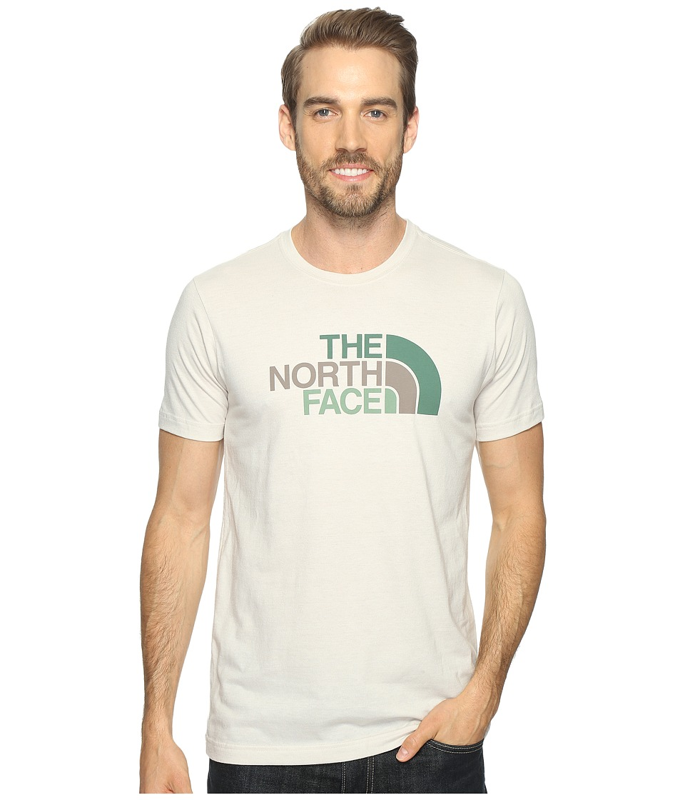 The North Face - Short Sleeve Tri-Blend Tee (Rainy Day Ivory Heather/Falcon Brown Multi (Prior Season)) Men's T Shirt