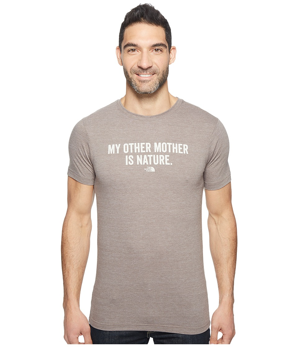 The North Face Short Sleeve Mother Nature Tri-Blend Tee (Falcon Brown Heather (Prior Season)) Men