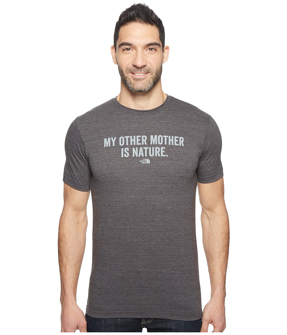 The North Face Short Sleeve Mother Nature Tri-Blend Tee (TNF Dark Grey Heather (Prior Season)) Men