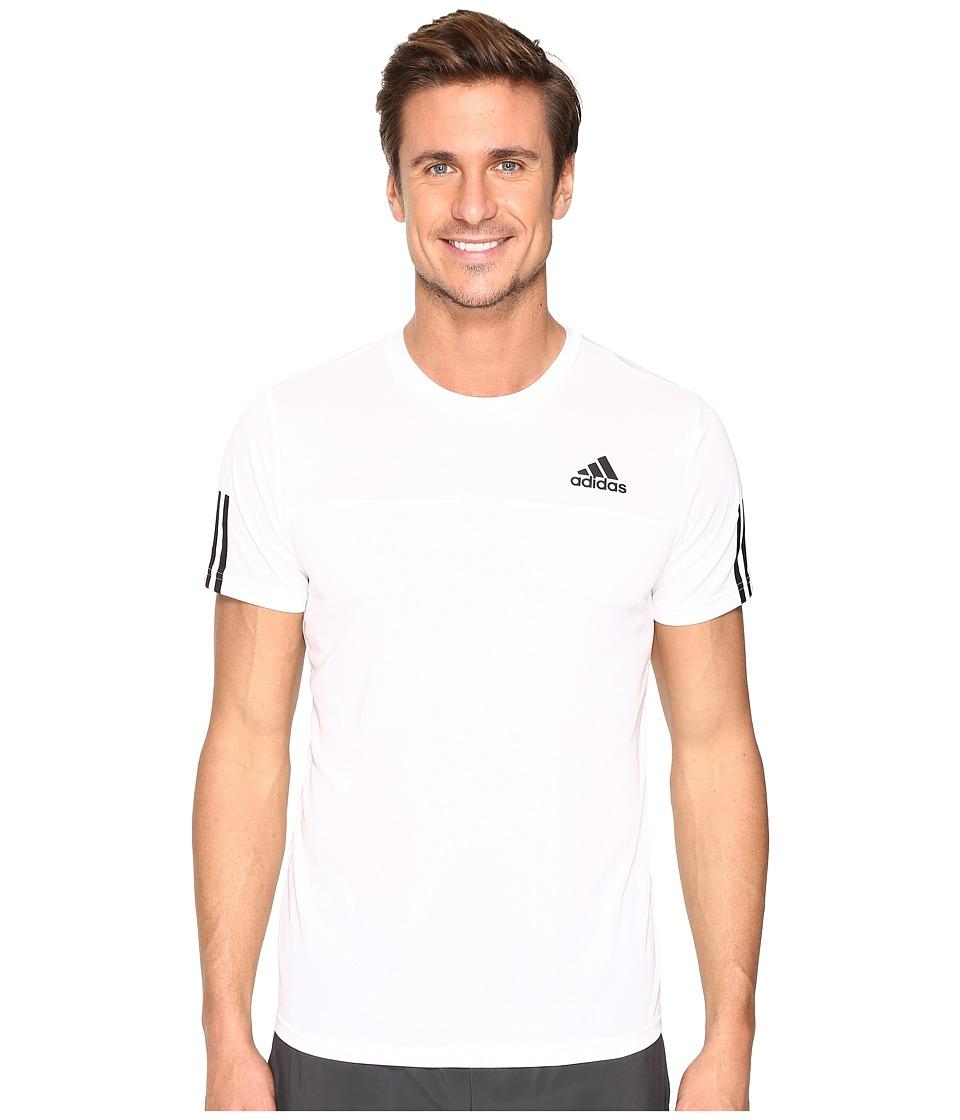 adidas - Essentials Tech Colorblock Tee (White/White) Men's T Shirt