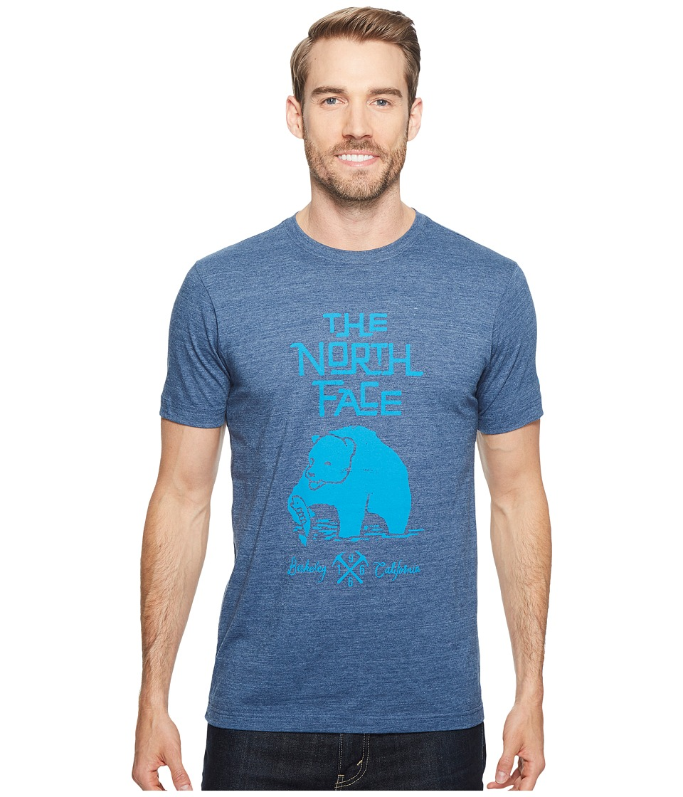 The North Face Short Sleeve Grizzly Tri-Blend Tee (Shady Blue Heather (Prior Season)) Men