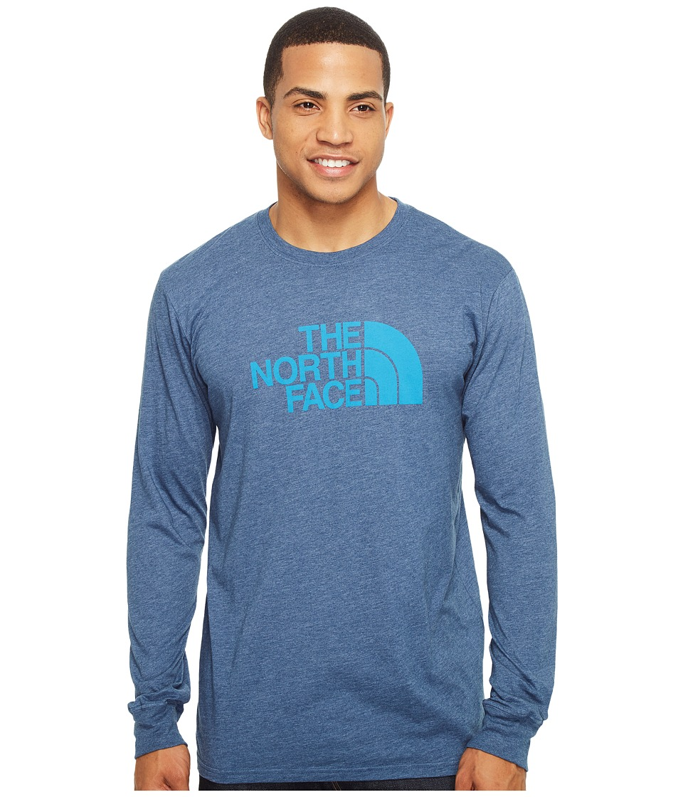 The North Face - Long Sleeve Half Dome Tee (Shady Blue Heather/Hyper Blue (Prior Season)) Men's T Shirt