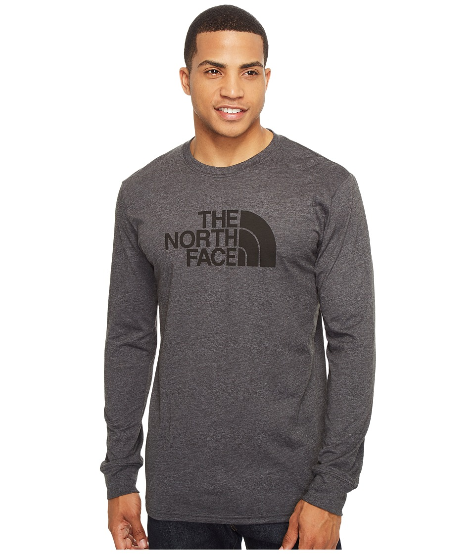 The North Face - Long Sleeve Half Dome Tee (TNF Dark Grey Heather/TNF Black (Prior Season)) Men's T Shirt