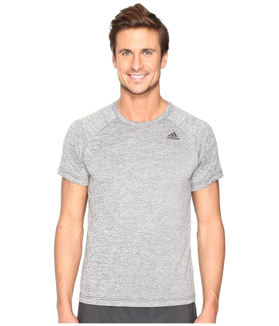 adidas - Designed-2-Move Heather Tee (Black) Men's T Shirt