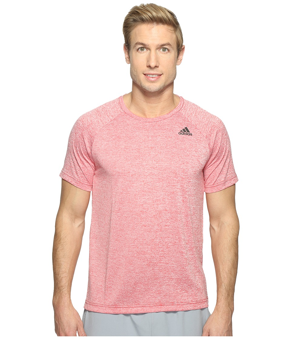 adidas - Designed-2-Move Heather Tee (Scarlet) Men's T Shirt