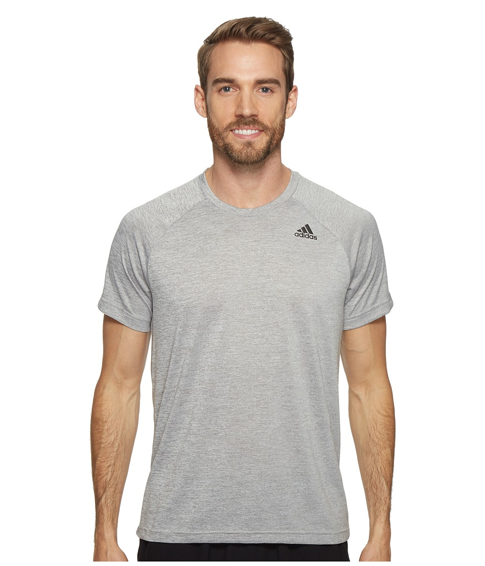 adidas Designed-2-Move Heather Tee (Medium Grey Heather) Men