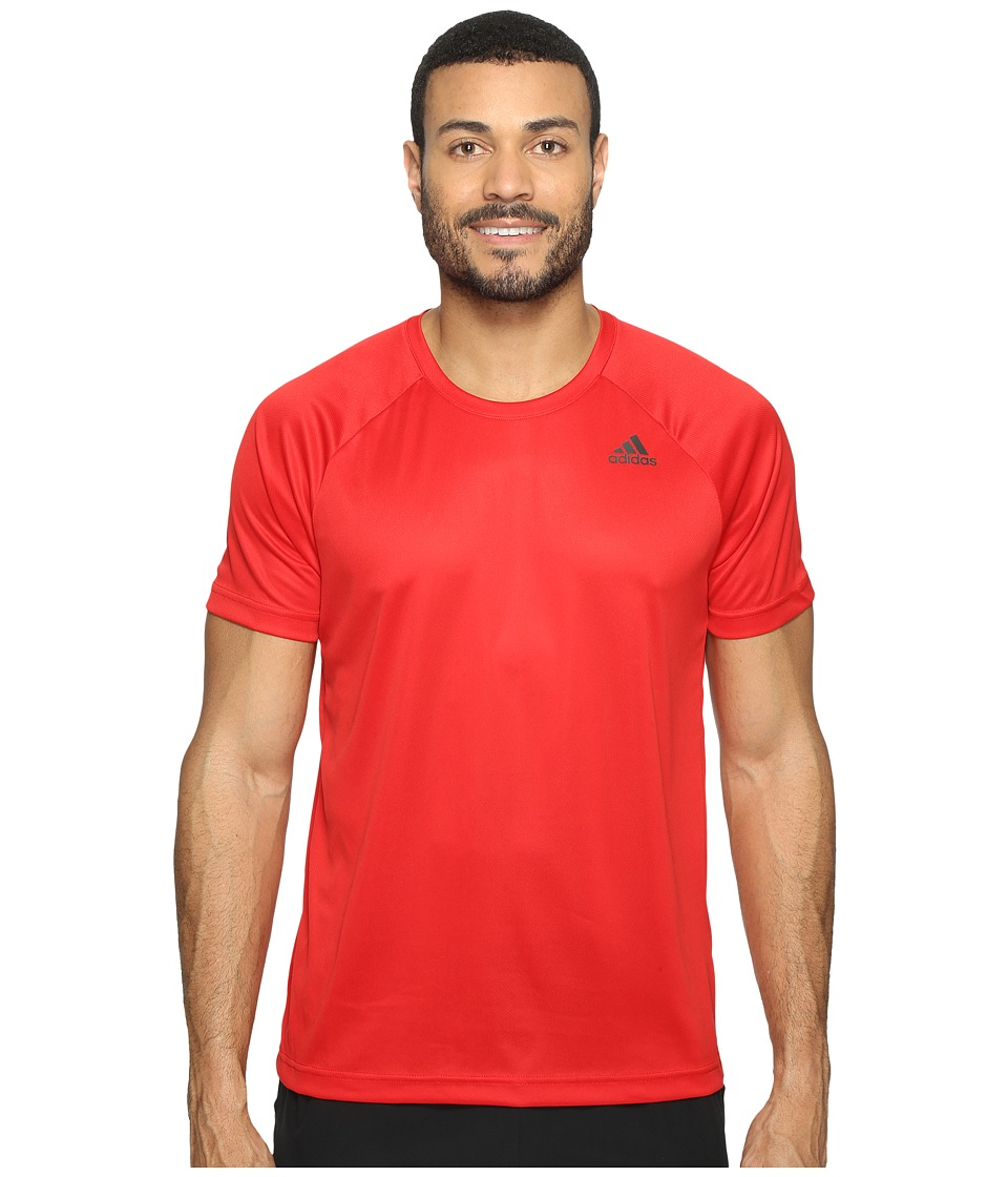 adidas - Designed-2-Move Solid Tee (Scarlet) Men's T Shirt
