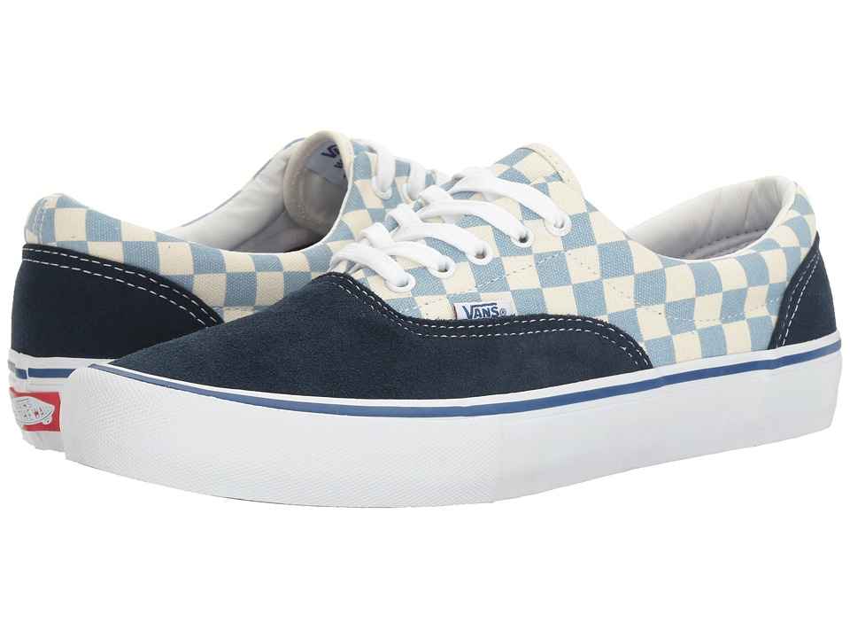 Vans - Era Pro ((Checkerboard) Dress Blues/Marshmallow) Men's Skate Shoes