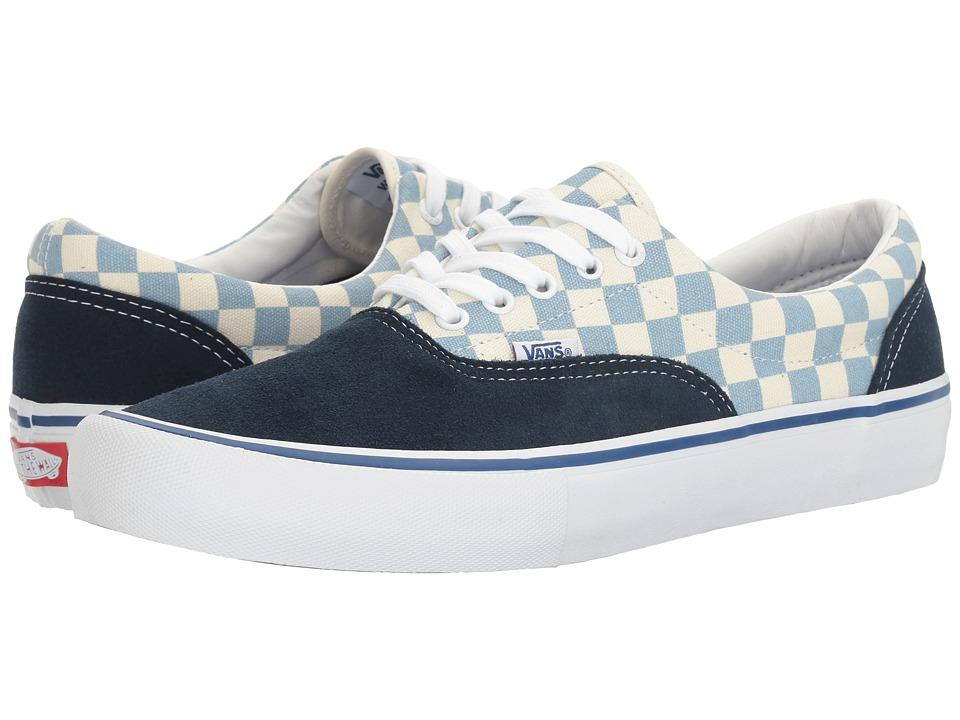 Vans - Era Pro ((Checkerboard) Dress Blues/Marshmallow) Men's Skate Shoes