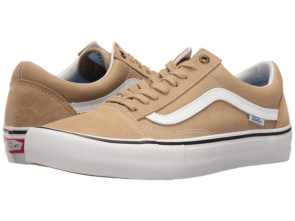 Vans - Old Skool Pro (Khaki/White) Men's Skate Shoes