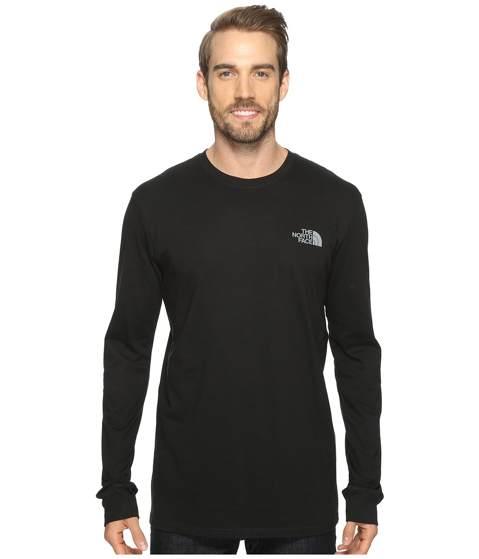 The North Face - Long Sleeve Red Box Tee (TNF Black/Heat Map Print (Prior Season)) Men's Long Sleeve Pullover