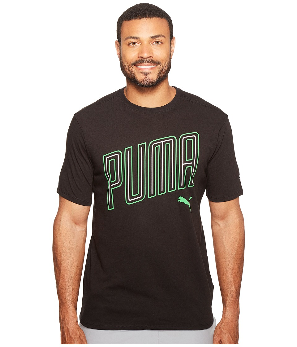 PUMA - Sprint Tee (Puma Black Heather) Men's Clothing