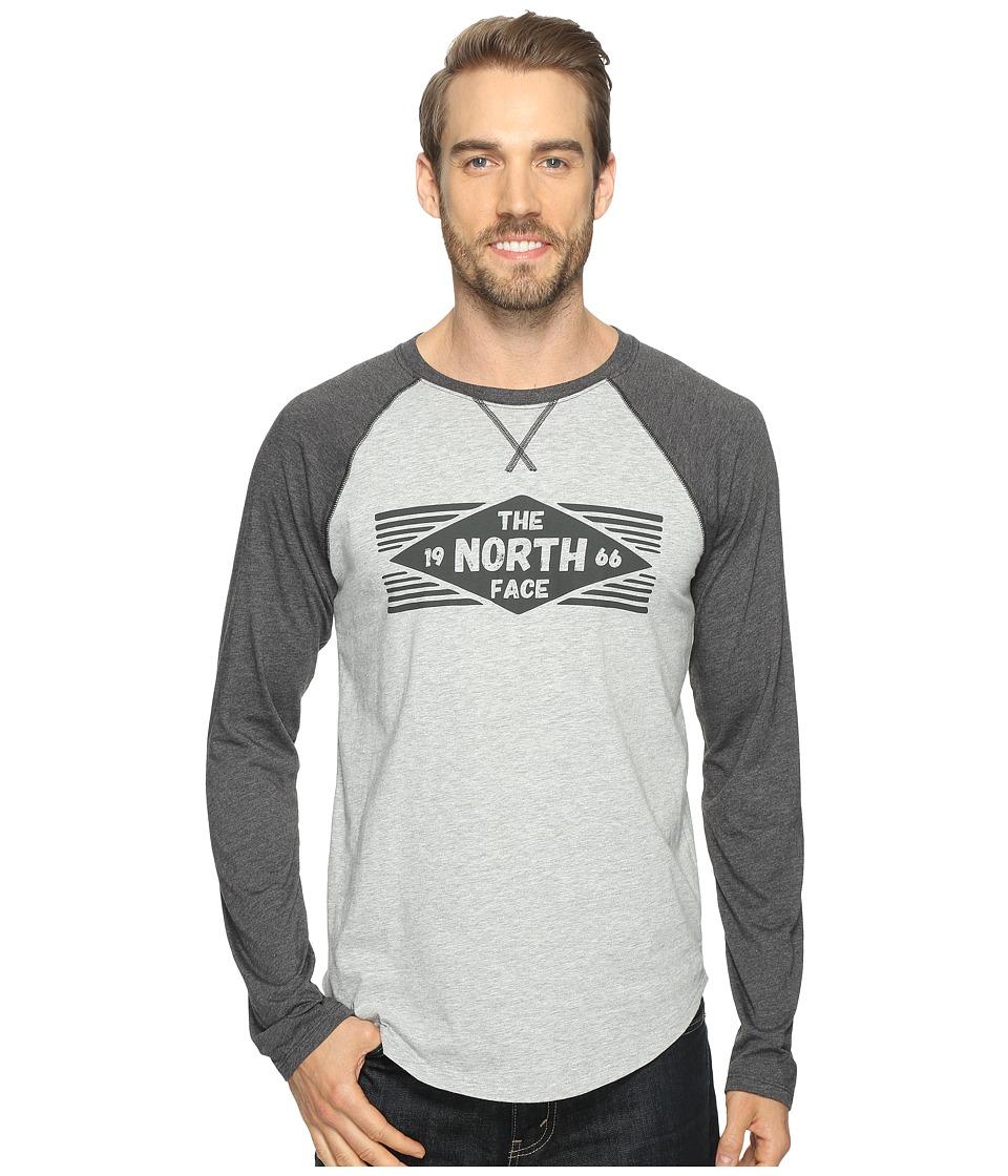 The North Face - Long Sleeve 66 Diamonds Raglan Tee (TNF Light Grey Heather/TNF Dark Grey Heather (Prior Season)) Men's T Shirt