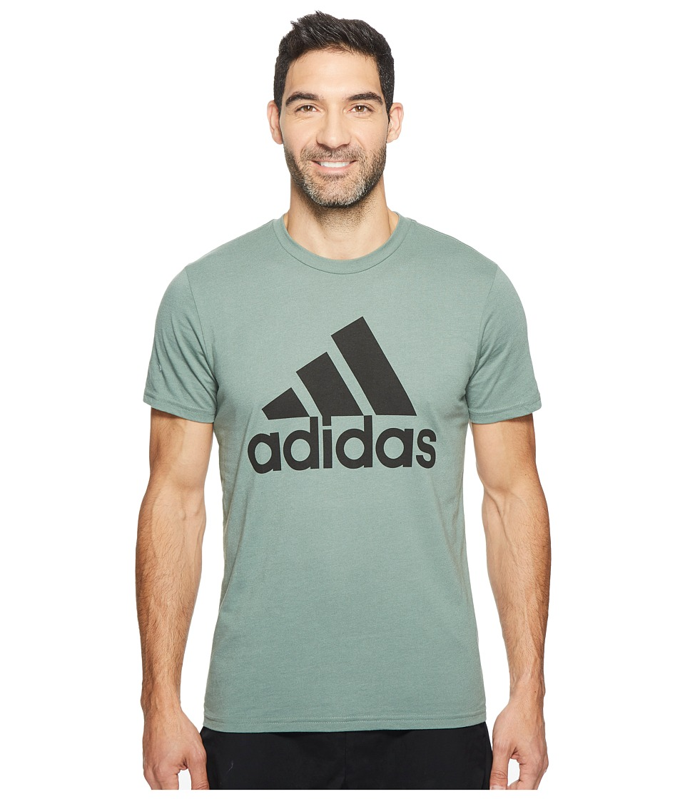adidas - Badge of Sport Classic Tee (Trace Green/Black) Men's T Shirt