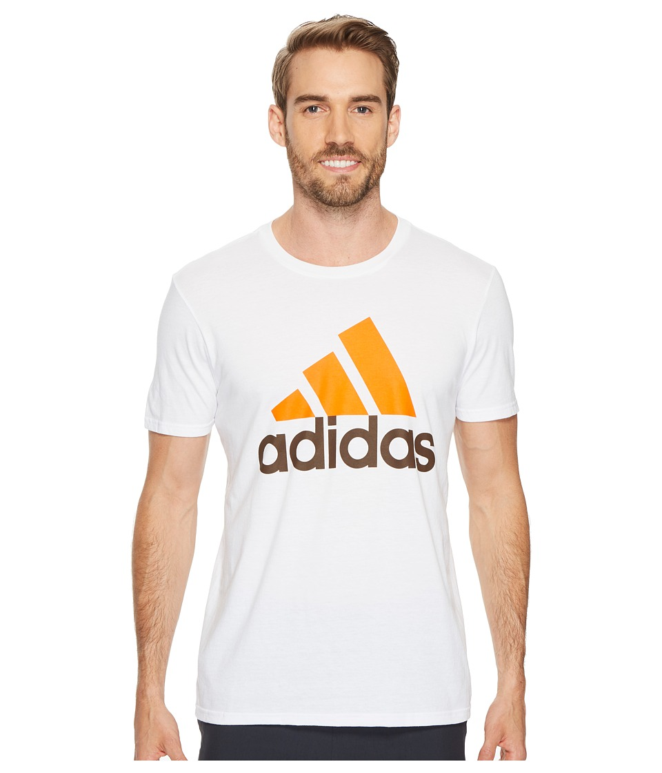 adidas - Badge of Sport Classic Tee (White/Orange/Brown) Men's T Shirt