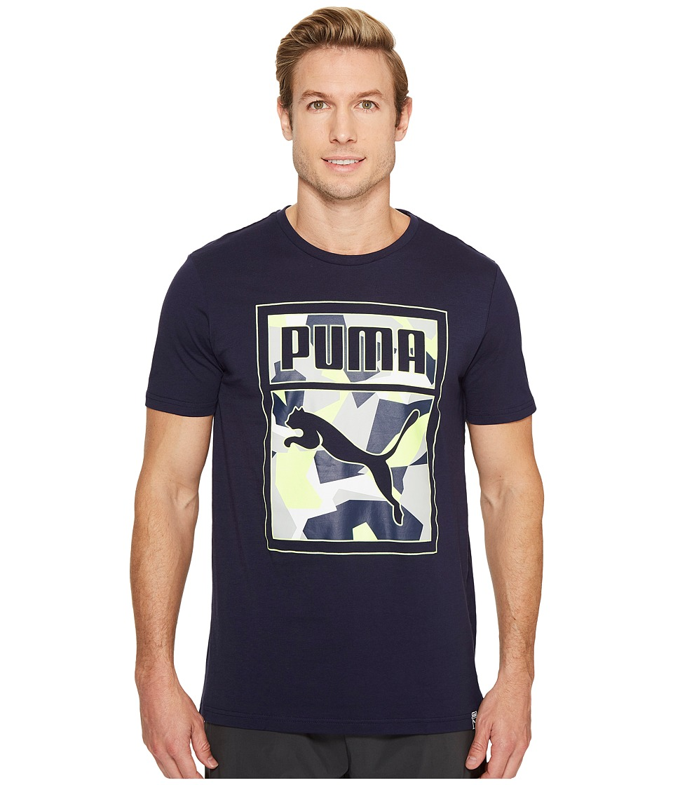 PUMA - Archive Graphic Logo Tee (Peacoat) Men's Clothing