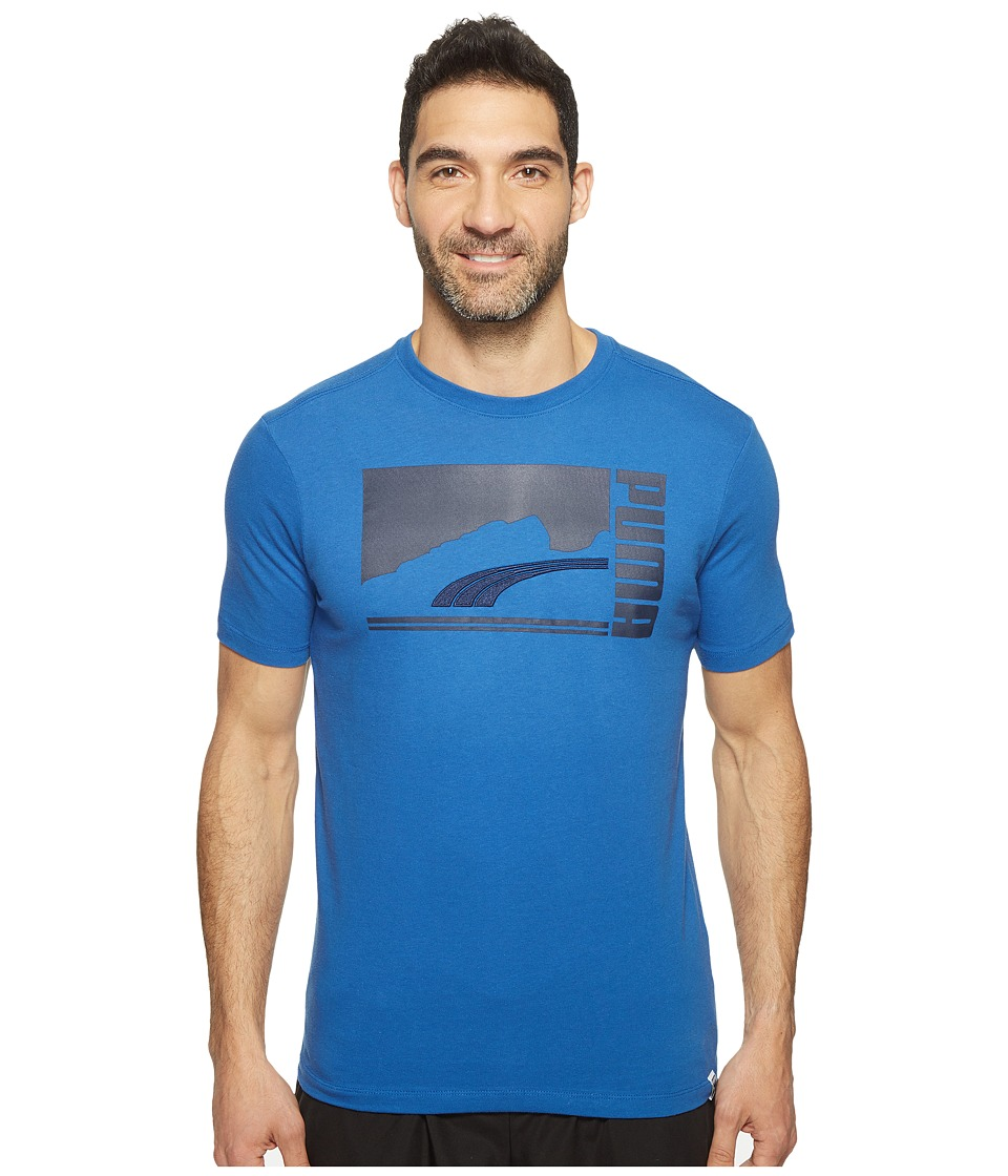 PUMA - Mono Suede Tee (True Blue/Peacoat) Men's Clothing