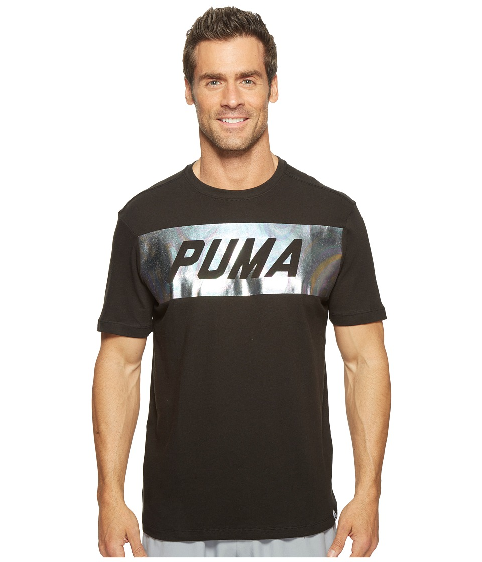 PUMA - Holographic Puma Tee (PUMA Black) Men's Clothing