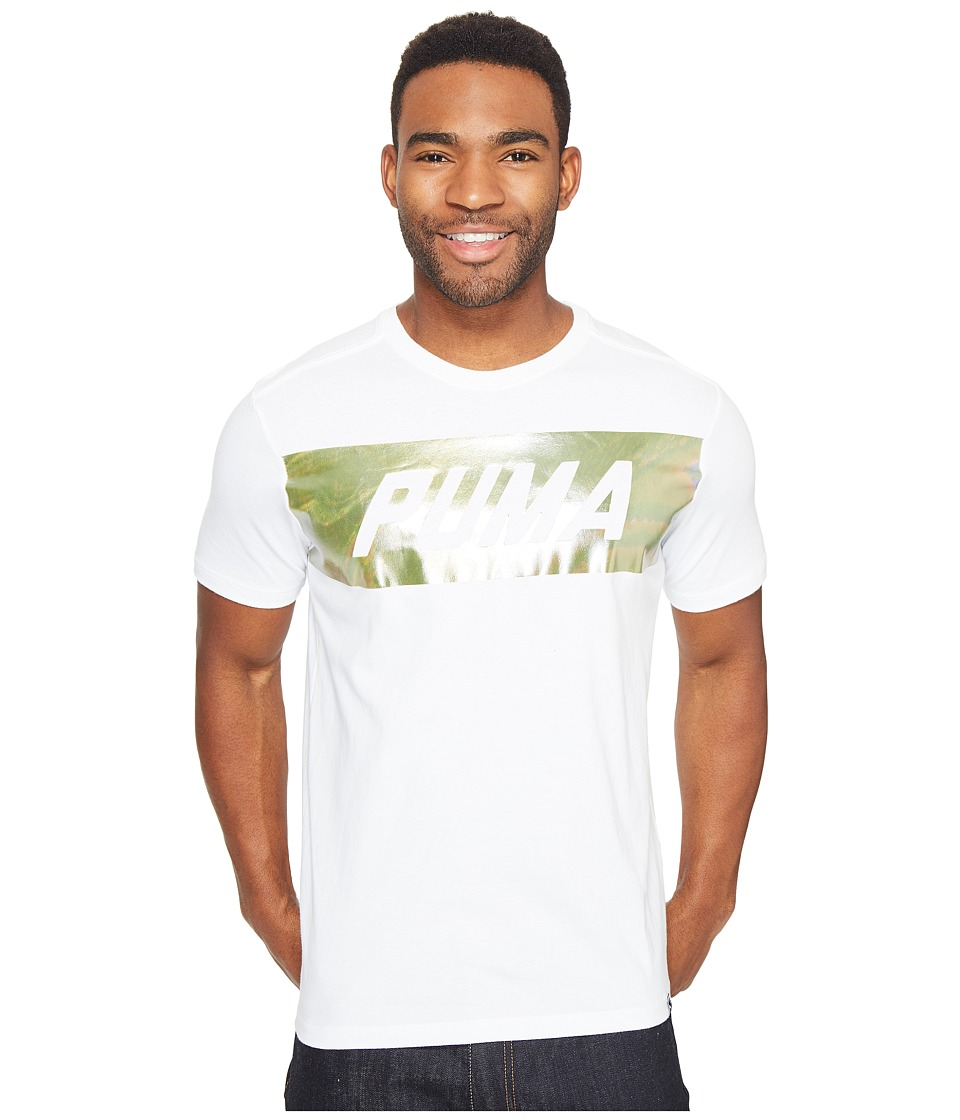 PUMA - Holographic Puma Tee (PUMA White) Men's Clothing