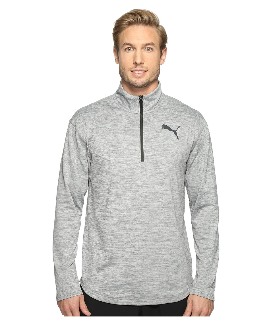 PUMA - Tech Fleece 1/4 Zip Top (Medium Gray Heather) Men's Coat