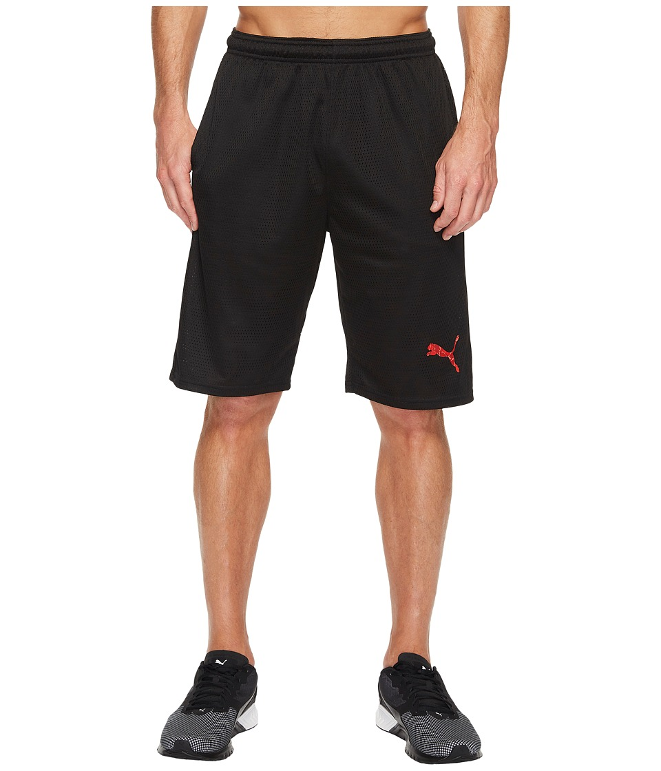 PUMA - Faded Poly Shorts (Puma Black/Liquid Camo) Men's Shorts