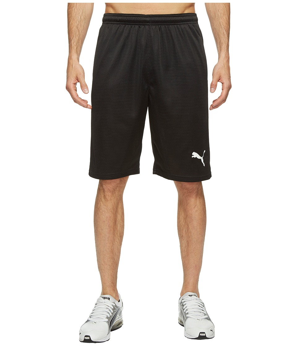 PUMA - Faded Poly Shorts (PUMA Black/White) Men's Shorts