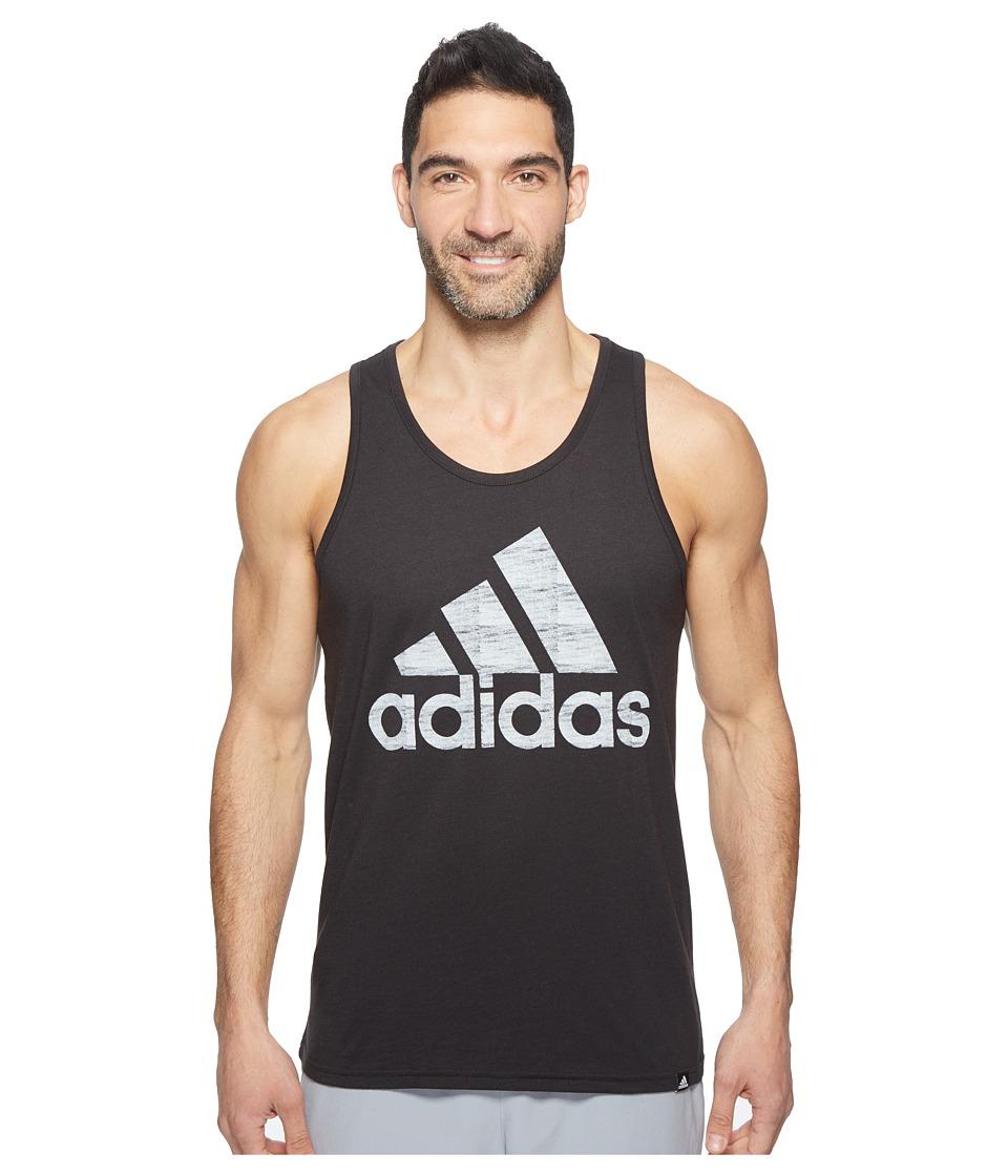 adidas - Washed Adi Tank (Black/White) Men's Sleeveless