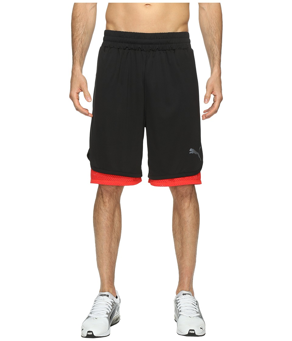 PUMA - Reversible Training Shorts (Puma Black/High Risk Red) Men's Shorts