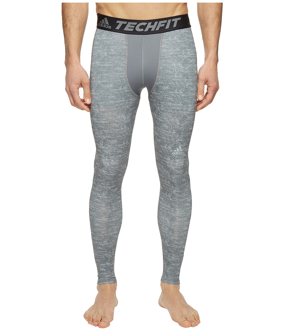 adidas - Techfit Base Long Tights (Core Heather) Men's Workout