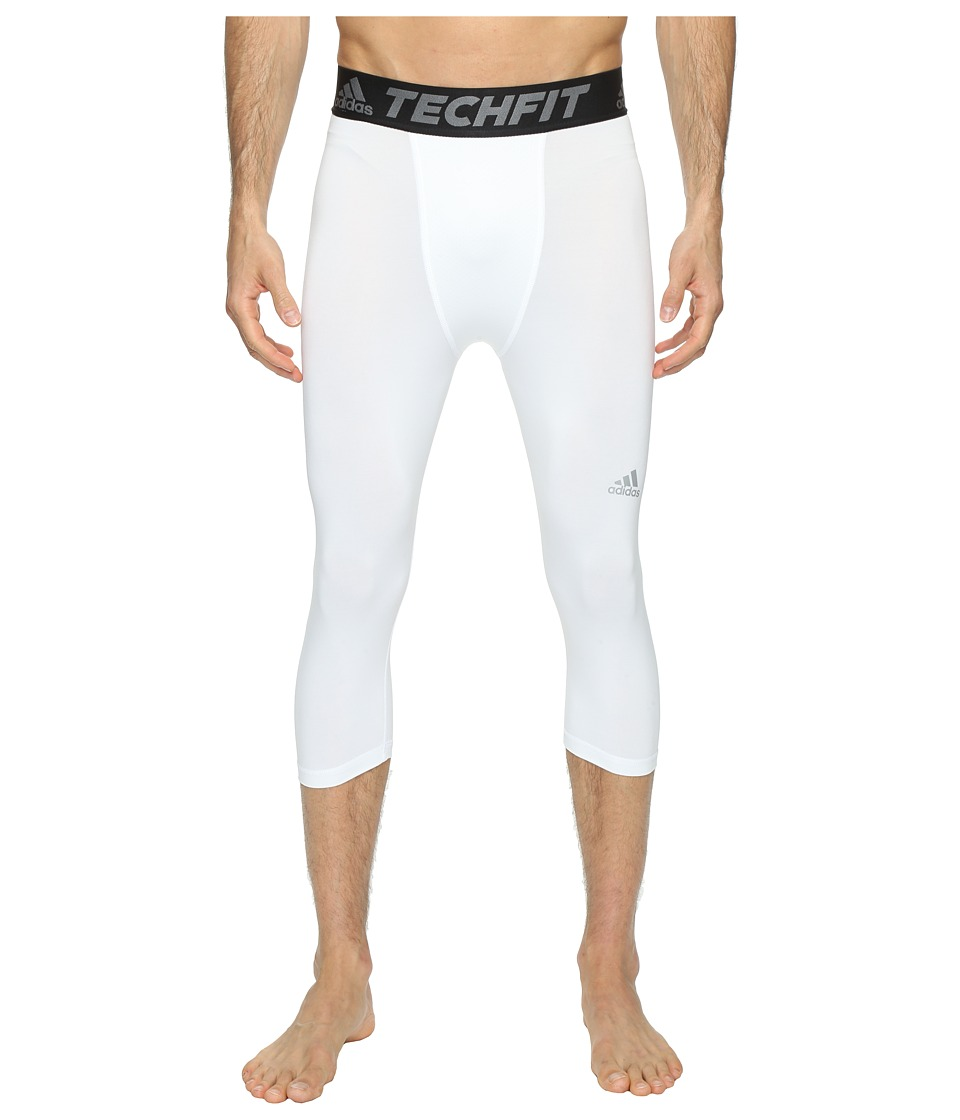adidas - Techfit Base 3/4 Tights (White/Vista Grey) Men's Workout