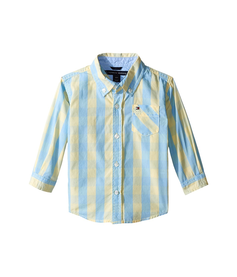 Tommy Hilfiger Kids - Playa Yarn-Dye End On End Shirt (Infant) (Pale Banana) Boy's Clothing