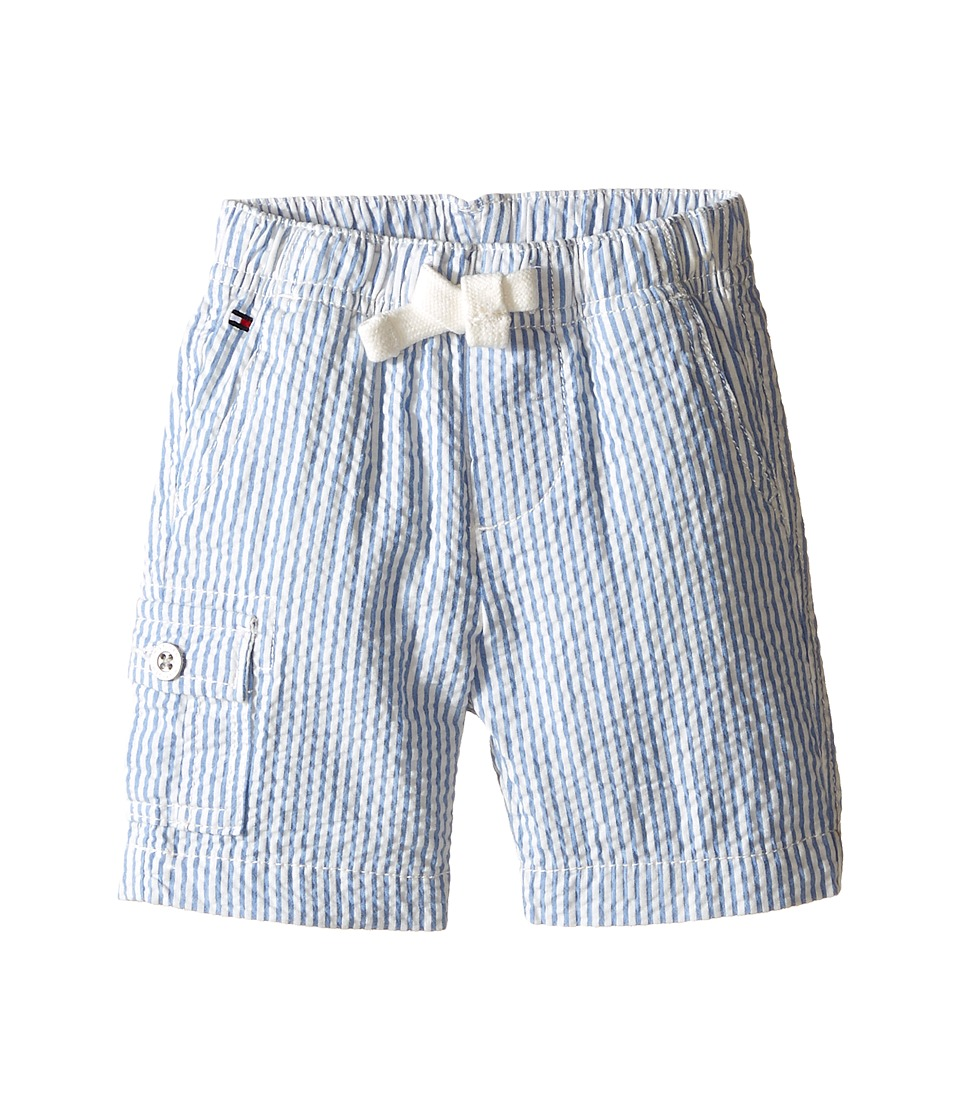 Tommy Hilfiger Kids - Tom Seersucker Pull-On Shorts (Infant) (Regatta Blue) Boy's Shorts