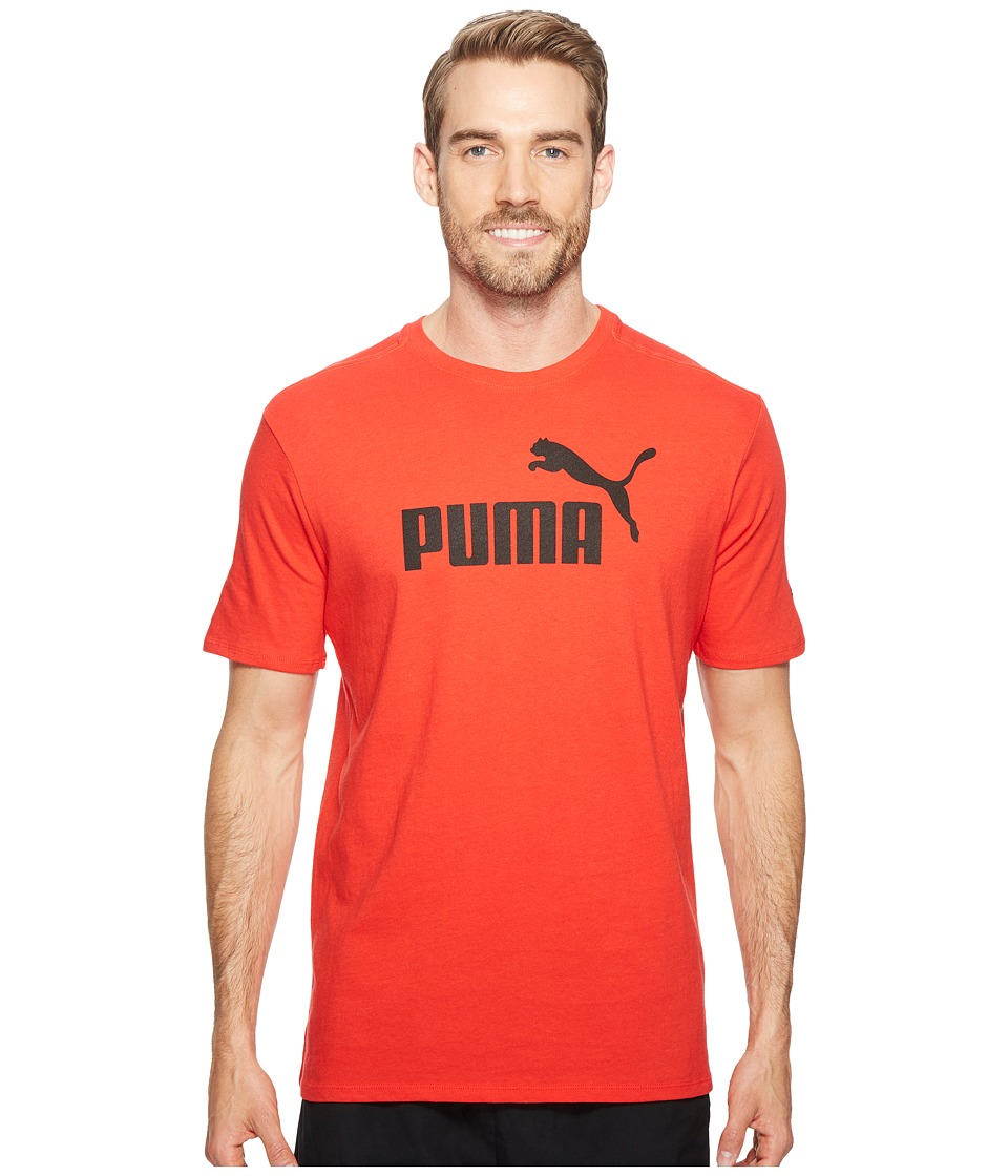 PUMA - #1 Logo Tee (Puma Red) Men's T Shirt