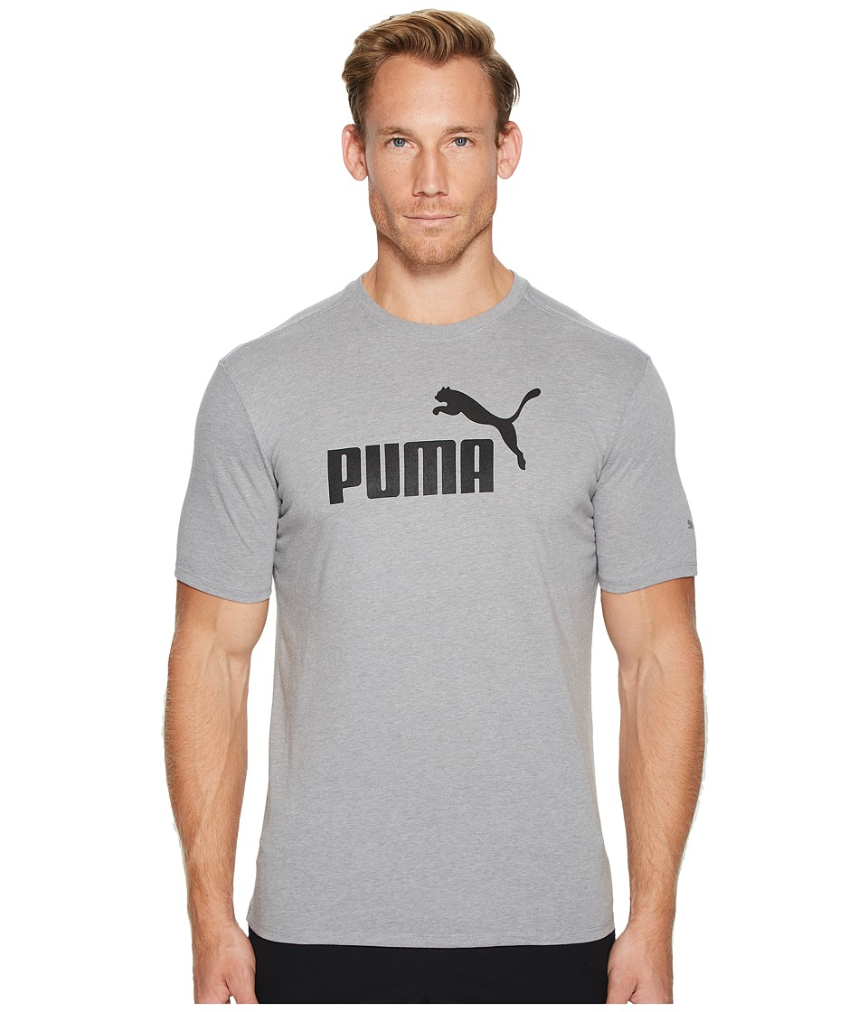 PUMA No. 1 Logo Performance Graphic Tee (Medium Gray Heather) Men