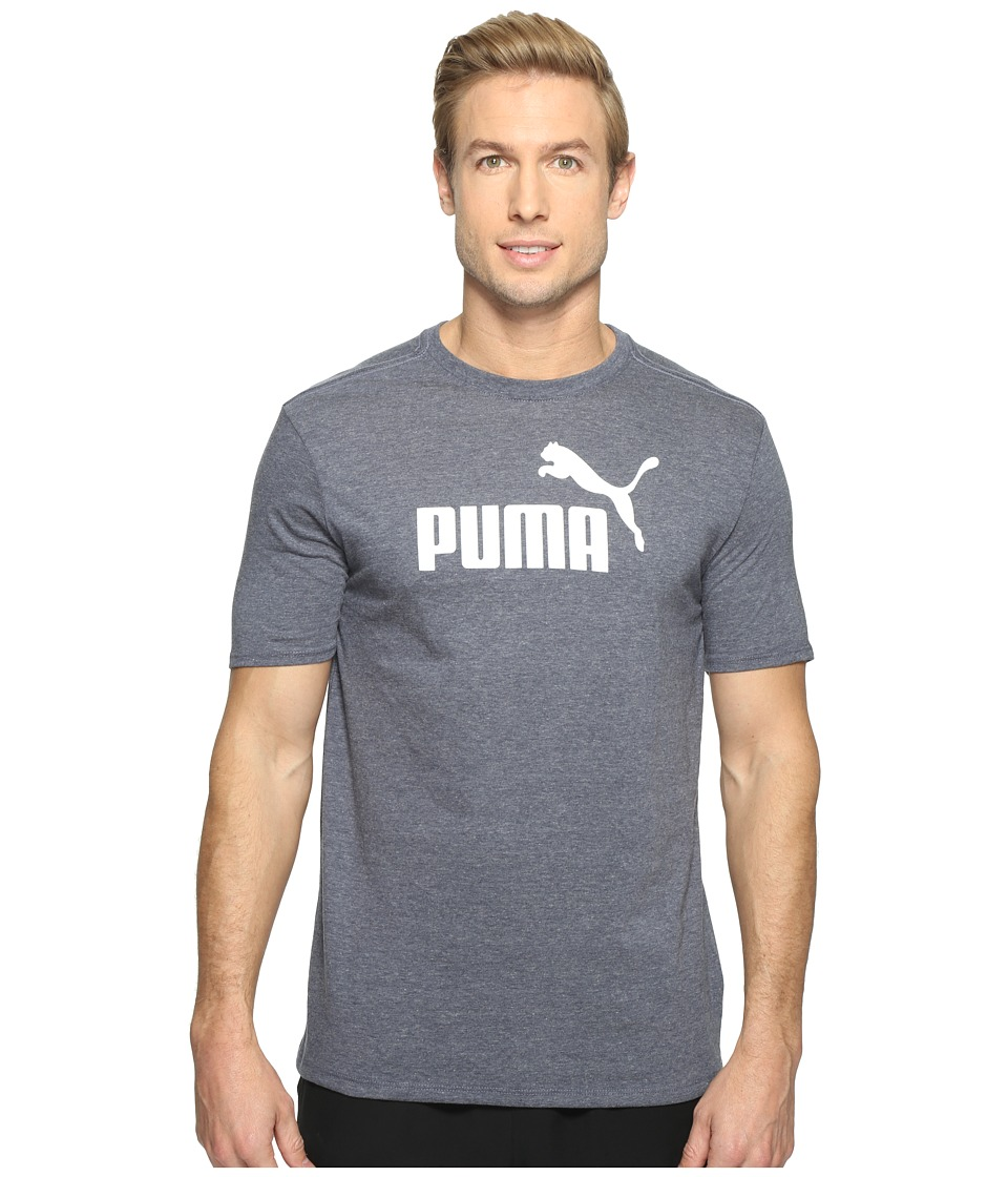 PUMA No. 1 Logo Performance Graphic Tee (Peacoat Heather) Men
