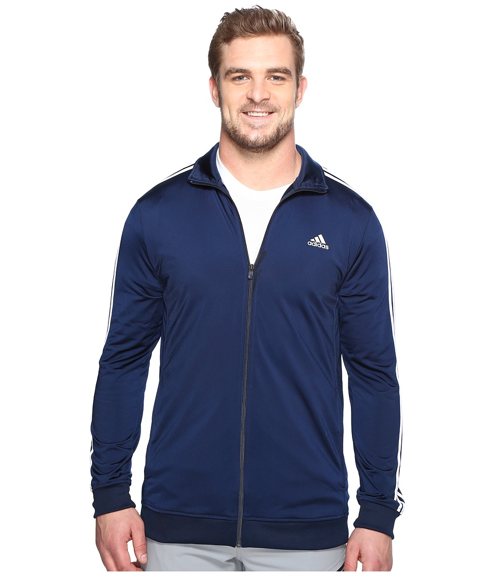 adidas - Big Tall Essentials Track Jacket (Collegiate Navy/White) Men's Coat