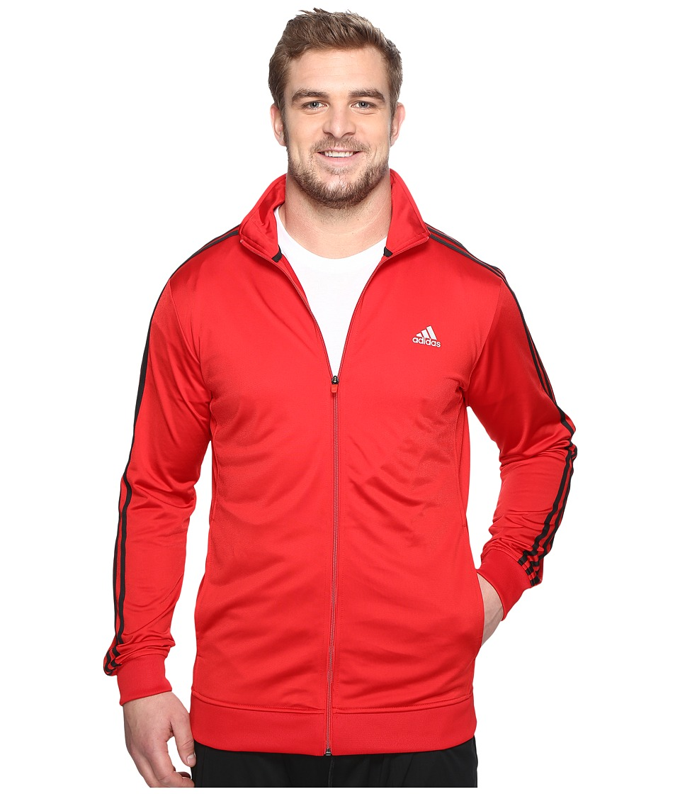 adidas - Big Tall Essentials Track Jacket (Scarlet/Black) Men's Coat