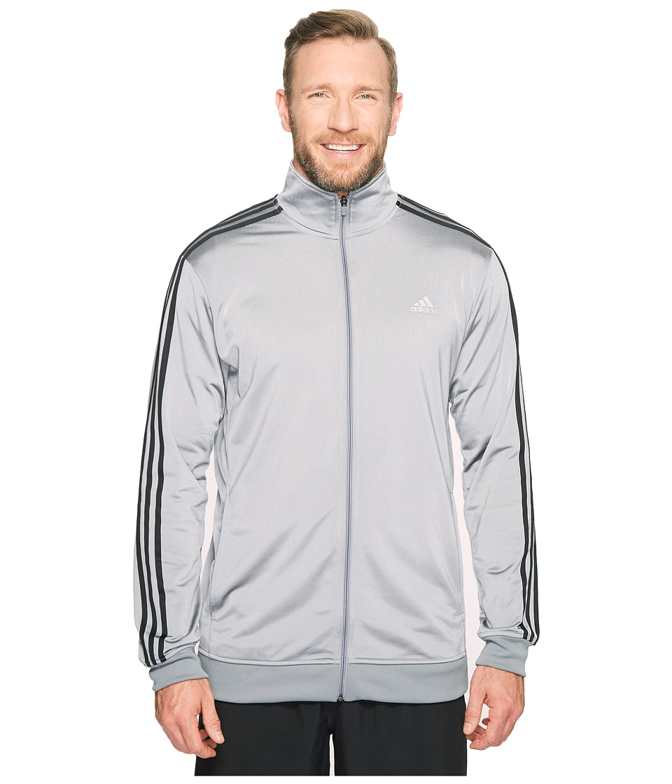 adidas - Big Tall Essentials Track Jacket (Grey/Black) Men's Coat