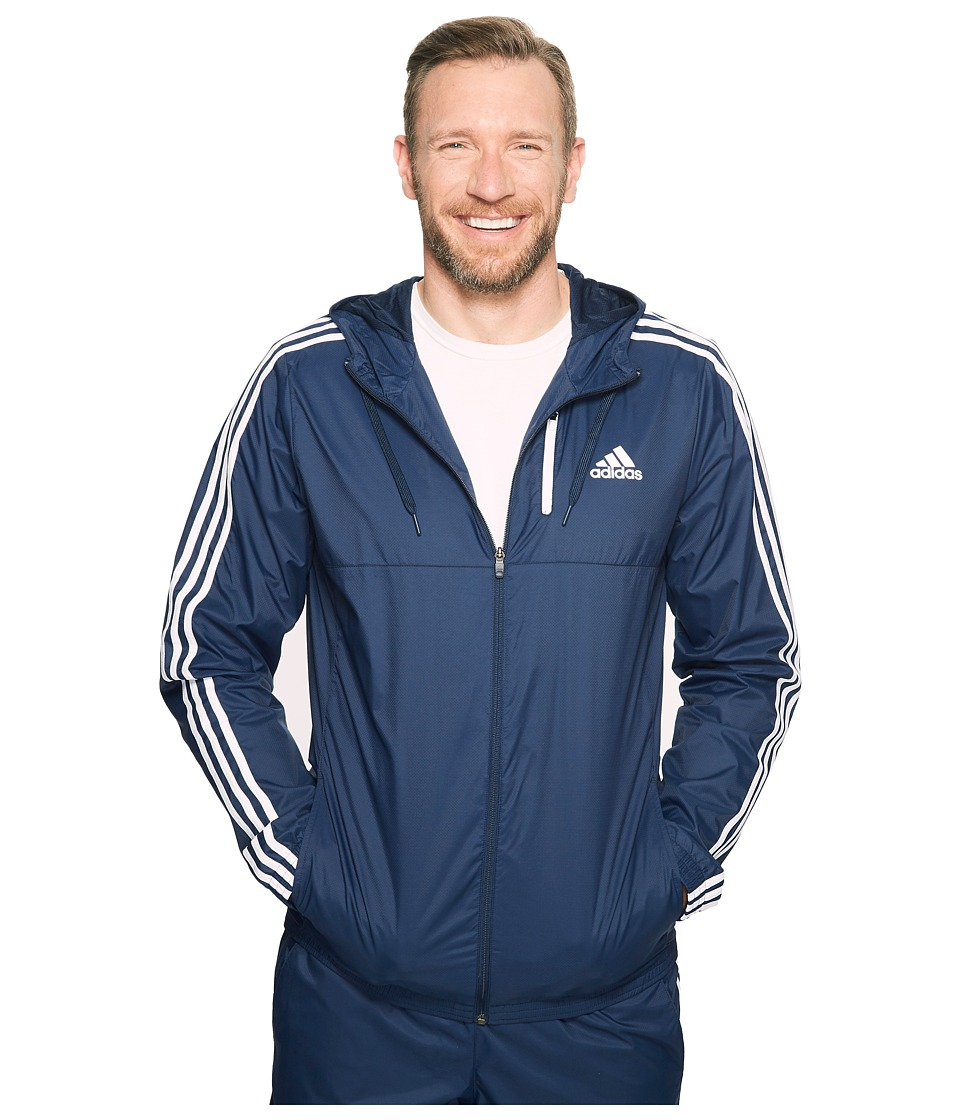 adidas - Big Tall Essentials Wind Jacket (Collegiate Navy/White) Men's Coat