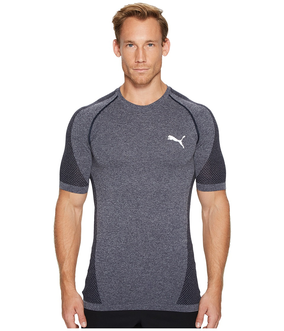 PUMA - evoKNIT Better Tee (Peacoat Heather) Men's T Shirt