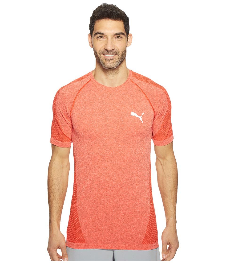 PUMA - evoKNIT Better Tee (High Risk Red) Men's T Shirt