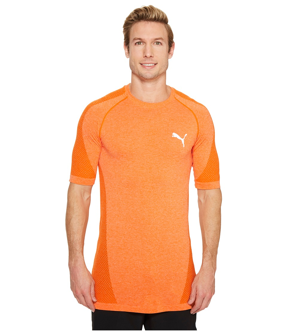 PUMA - evoKNIT Better Tee (Vibrant Orange Heather) Men's T Shirt