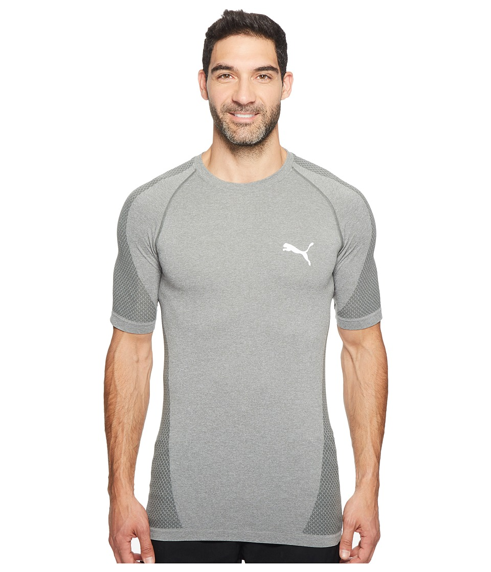 PUMA - evoKNIT Better Tee (Medium Gray Heather) Men's T Shirt