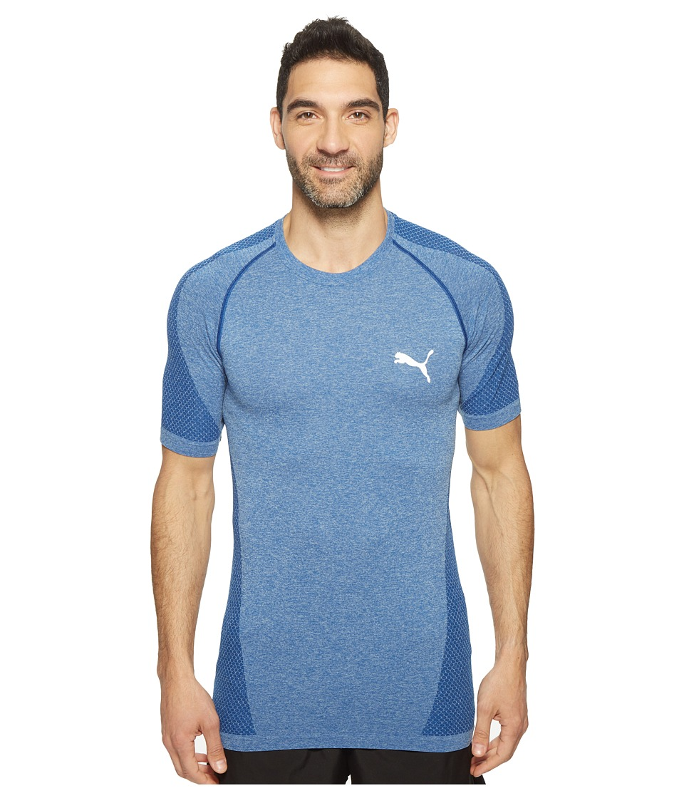 PUMA - evoKNIT Better Tee (True Blue Heather) Men's T Shirt