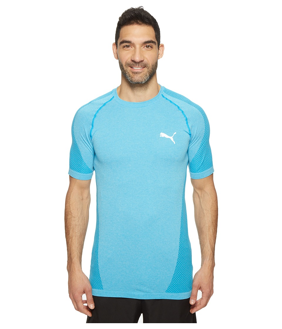 PUMA - evoKNIT Better Tee (Blue Danube Heather) Men's T Shirt