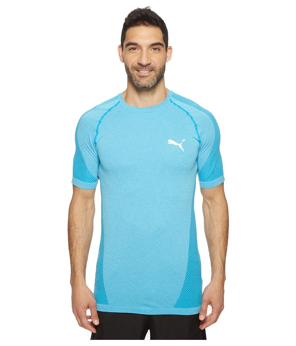 PUMA - evoKNIT Better Tee (Blue Danube Heather) Men's T Shirt